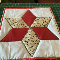 Quilted Christmas star table center