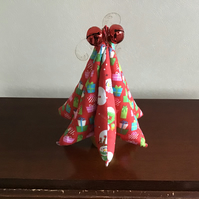 Red fabric Christmas tree