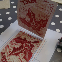 Christmas Lino Printing Workshop in Surrey