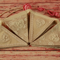 Lace wedding bunting, vintage home decor, boho chic decoration, rustic garland