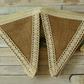 Hessian and lace bunting, burlap fabric garland, rustic wedding decoration