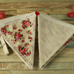 Floral and lace bunting, shabby chic, fabric garland, vintage home decoration