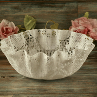 Lace bowl, textile art decorative bowl, shabby chic home decoration, boho gift