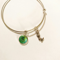 Mermaid Scale Charm Bracelet Bangle