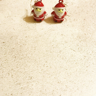 Father Christmas Santa Claus Bell Earrings