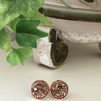 Rose Gold Faux Druzy Earrings