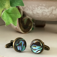 Green Abalone Cufflinks