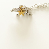 North Star & Polar Bear Constellation Necklace