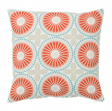 Scandinavian Cushion- Scandinavian Retro Cushion- Geometric Pilow- Coral Cushion