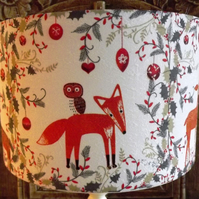 Christmas Lampshade Nordic Fox & Owl Lamp Xmas Decoration Shabby Chic Free Gift