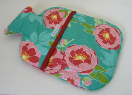 Quilted Floral Hot Water Bottle Cover