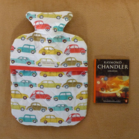 Fun cars quilted hot water bottle cover