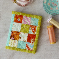 Quilted needle book