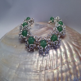 Green Adventurine chainmaille bracelet