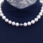 Natural fresh water pearls knotted necklace