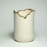 Large Corrupted Porcelain Vessel - Beautiful Demolition