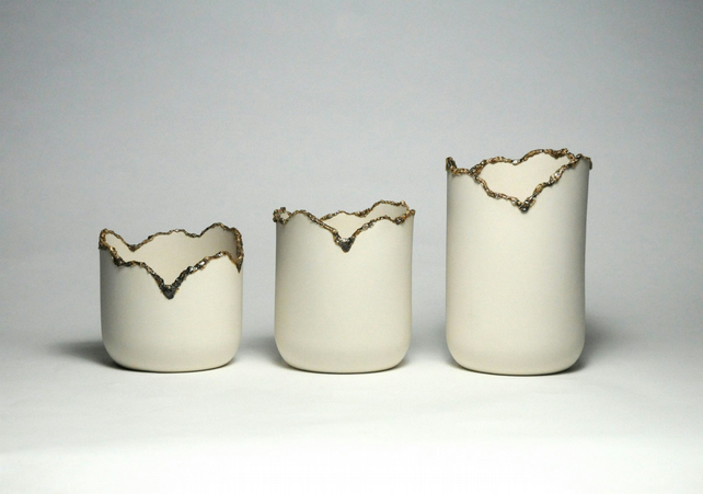 Series of Corrupted Porcelain Vessels