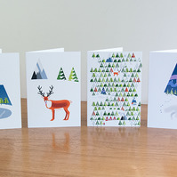 Pack of all six designs of Barnal Sno (Pine Needle Snow) greetings cards