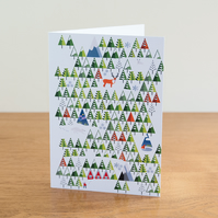 "Barnal Sno (Pine Needle Snow) greetings card - ""Snow Pattern"" design"