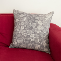"SALE 33% OFF Cold Spell ""Log Pile"" linen cushion"
