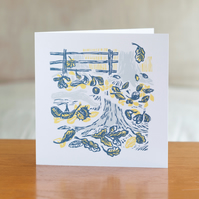 "Cover Story ""Roots"" design greetings card"