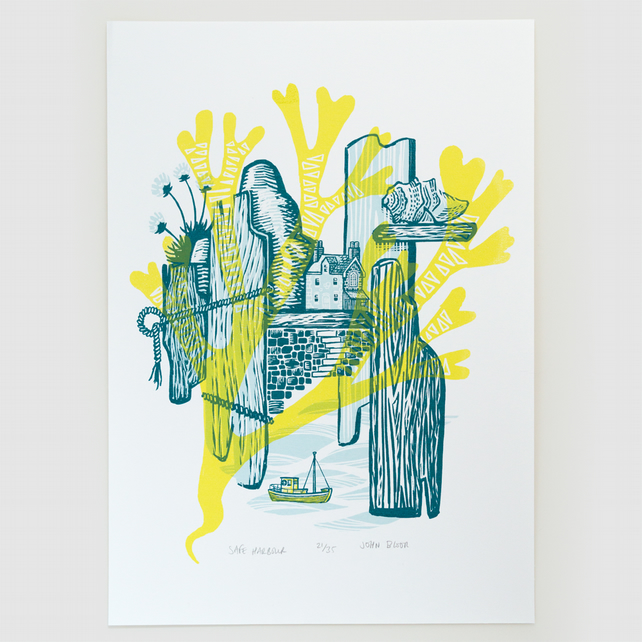 Safe Harbour screen print limited edition