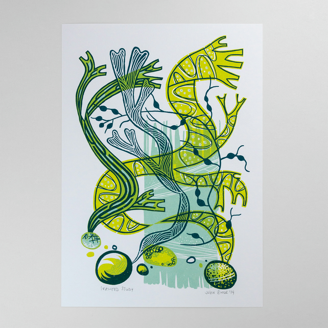 Seaweed Study coastal screen print