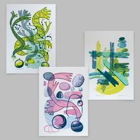 Coastal Studies screen prints set