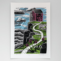 """Cliff House"" screen print"