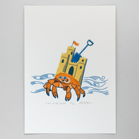"""King of the Castle"" screen print"