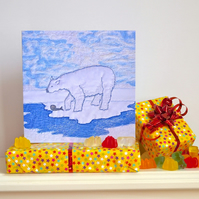 Polar Bear birthday card