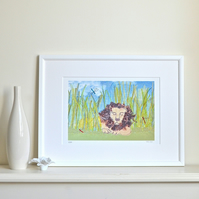 Sleeping Lion picture - lion print