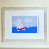 Personalised Sailing boat print - custom bespoke boat picture