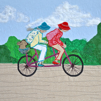 Cycling textile picture - Tandem in the Country - tandem bike bicycle