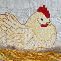 Chicken - mounted chicken bird poultry art print by Heidi Meier