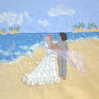 Wedding card - wedding on beach