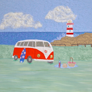Birthday card - campervan