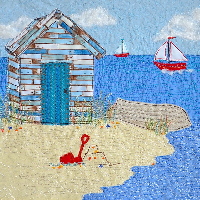 Birthday card - beach hut