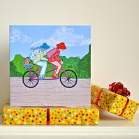 Birthday card - tandem country