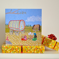 Birthday card - gypsy caravan