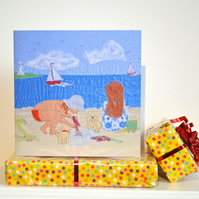 Seaside birthday card