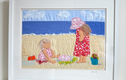Seaside stories - original textile art