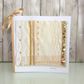 Golden Wedding Anniversary card - textile panel 50