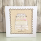 Wedding card - textile wedding cake tier