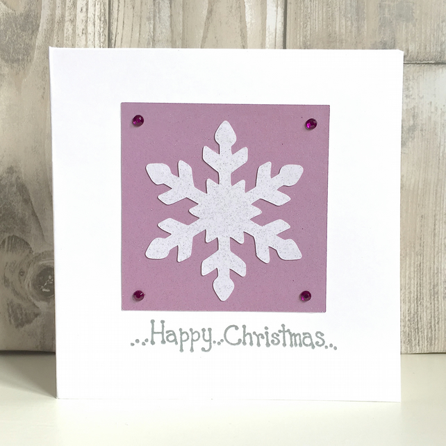 Christmas card snowflake