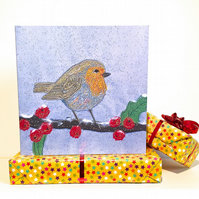 Birthday card - robin