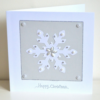 Christmas card - large snowflake Christmas card