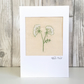 Sympathy card - cow parsley floral flower, thinking of you, condolence card