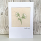 Birthday card - cow parsley floral birthday card