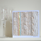 Wedding card - luxury premium embroidered abstract congratulations keepsake card